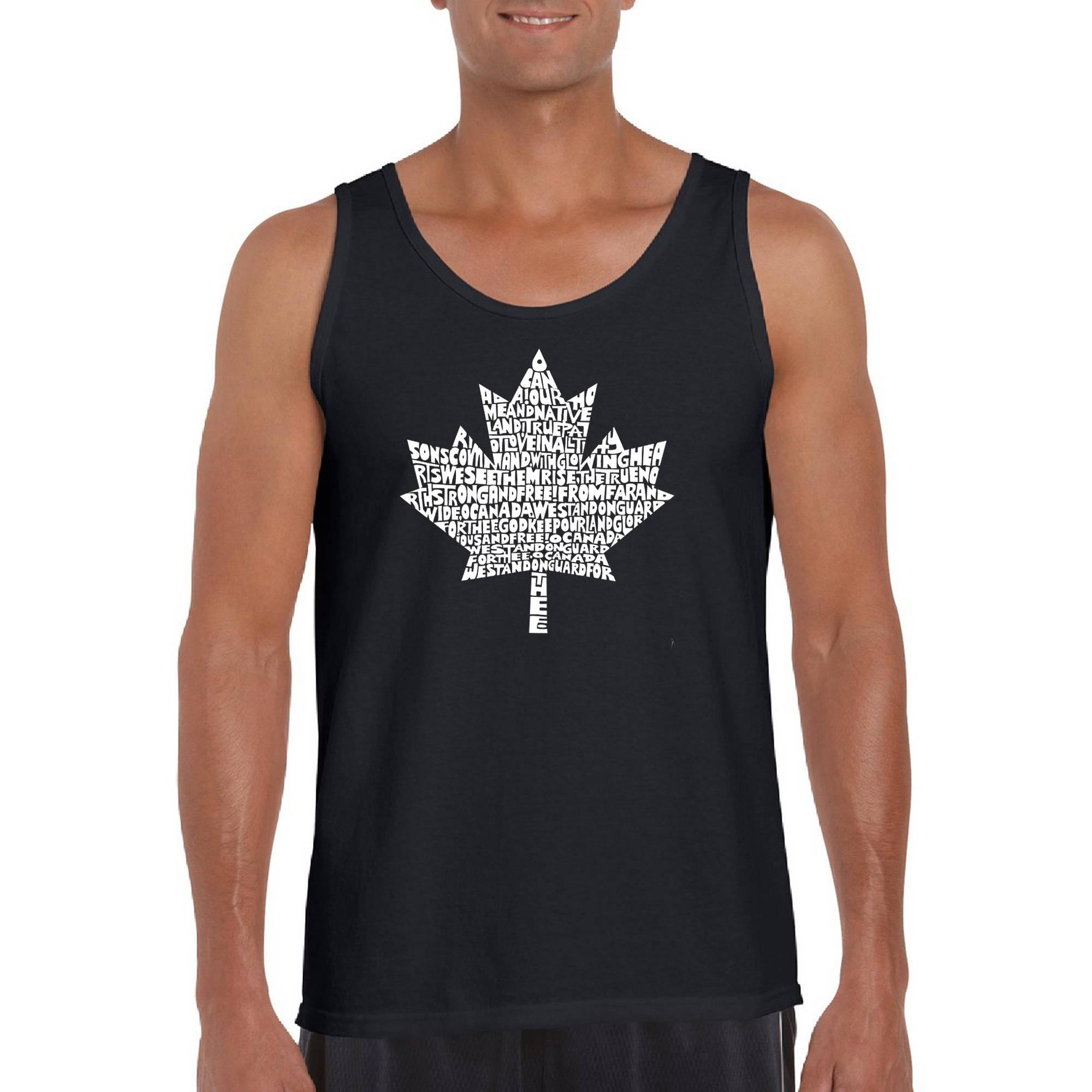 Los Angeles Pop Art Men's Tank Top - Canadian National Anthem