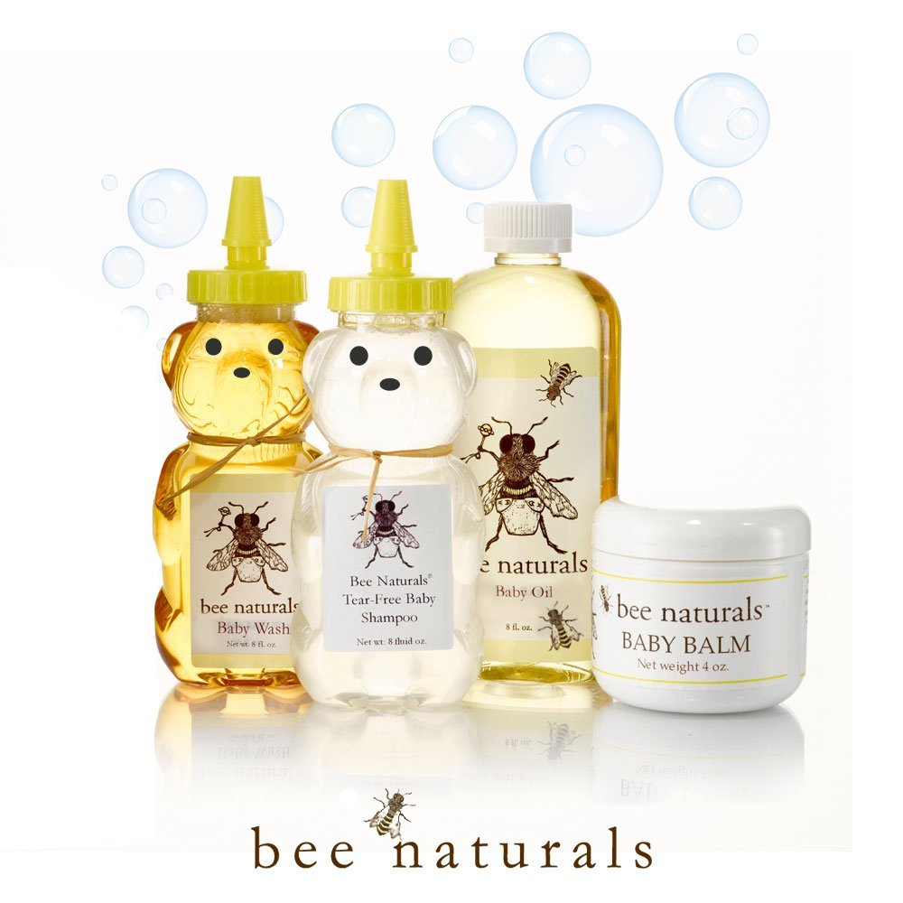 Bee Naturals Baby Gift Set All Natural Baby Oil All Natural Baby Wash All Natural Baby Balm All Natural Baby... by Bee Naturals