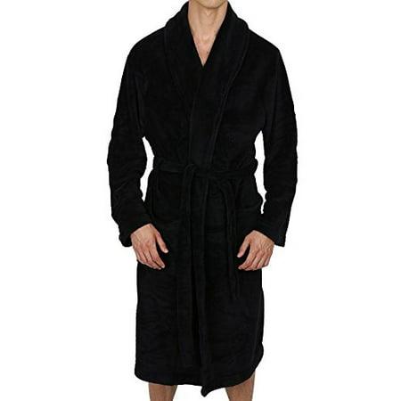 Regency New York Coral Fleece Robe Black S/M (New York Rangers Robe)