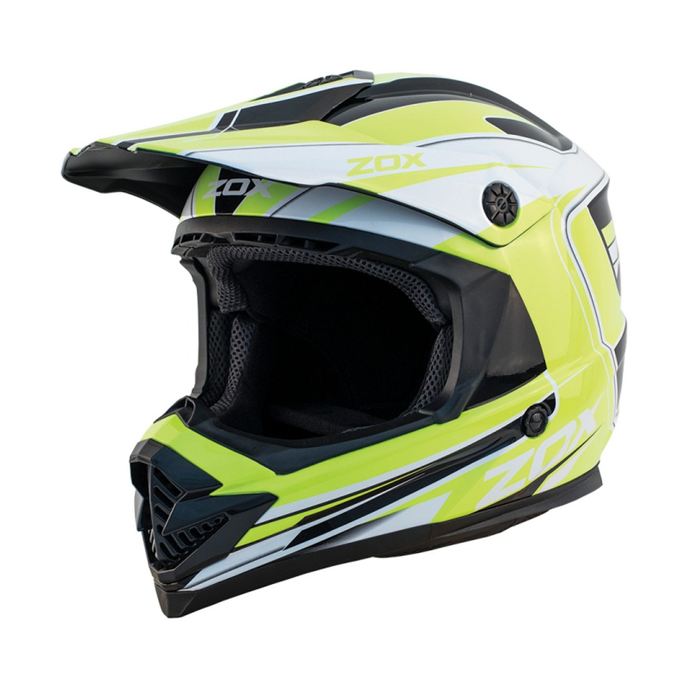 Zox Rush Lucid MX Offroad Helmet Hi-Viz Yellow