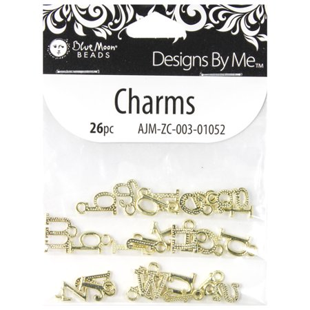 Blue Moon Beads Charms (Blue Moon Beads Gold Charm Letter, 1)