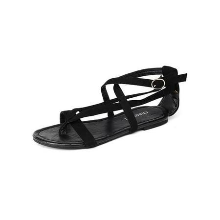 8eafdebb501aa Women Bohemia Ankle Strappy Sandals Flats Open Toe Shoes Summer Beach Flip-Flops  - Walmart.com