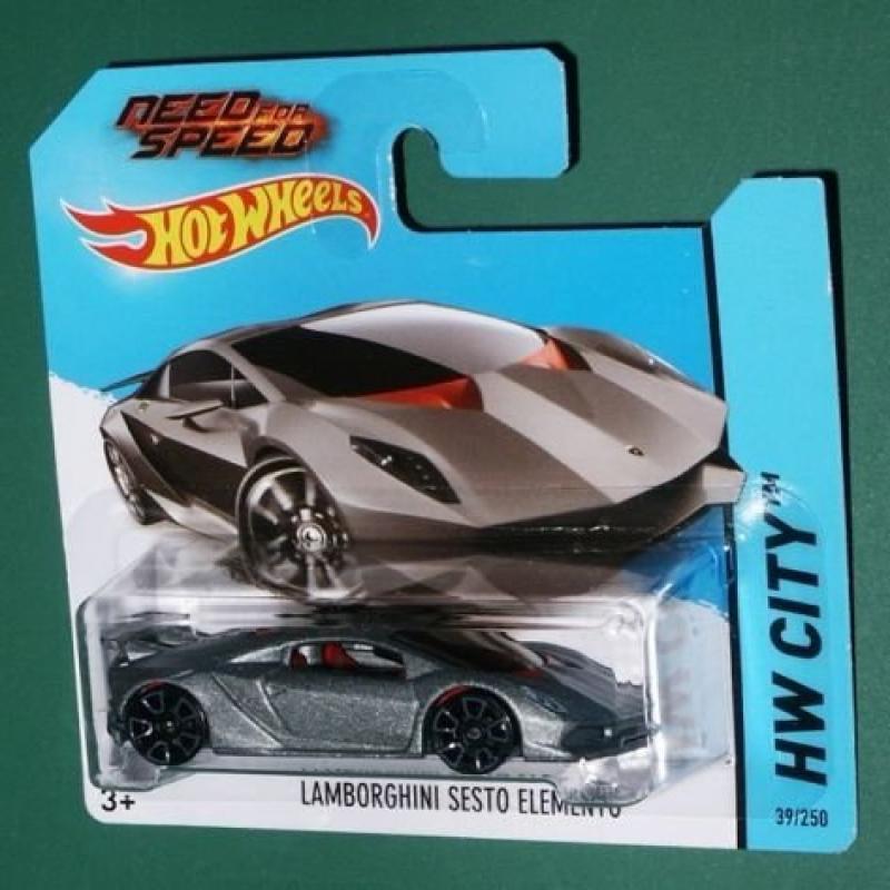 2014 Hot Wheels Hw City Need For Speed - Lamborghini Sesto Elemento [Short Card]