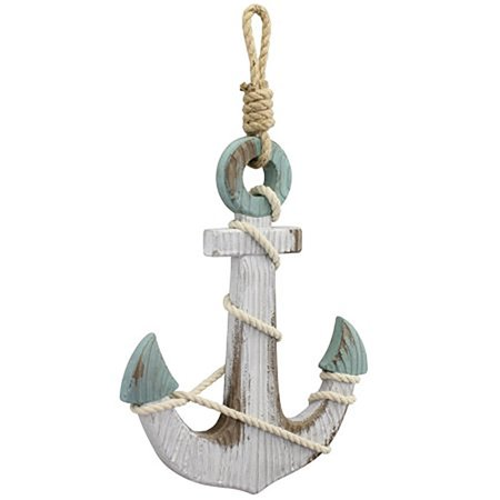 Stonebriar Collection wall decor anchor with rope](Anchor Wall)