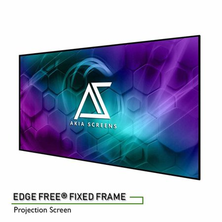 Elite Screens Akia Edge Free White Fixed Frame Projector Screen ()
