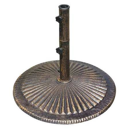 ISLAND UMBRELLA Umbrella Base,Bronze,Cast Iron,50 lb. NU5405A