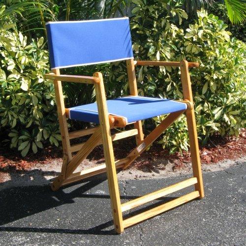 Oak Outdoor Directors Deck Chair