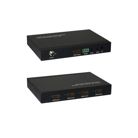 QUAD MULTI VIEWER HDMI SWITCH 4 INPUT 1 OUTPUT HDMI WITH SEAMLESS AND IR REMOTE 1.3A HDCP 1.2 100 - 240V 50/60HZ ()