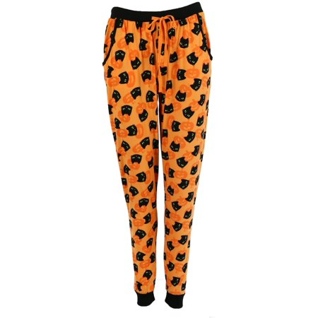 The Real Talk Show Halloween Treats (Pillow Talk  Halloween Print Pajama Pants (Women's Plus)