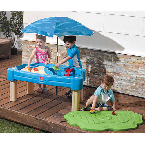Wonderful Step2 Cascading Cove Sand And Water Table With Cover