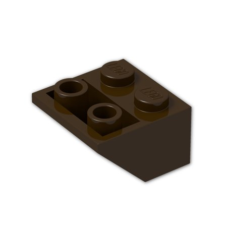 Brick Building Sets Original Lego Parts: Inverted Slope 45° 2 x 2 (3660 - Pack of 8) (Dark Brown)