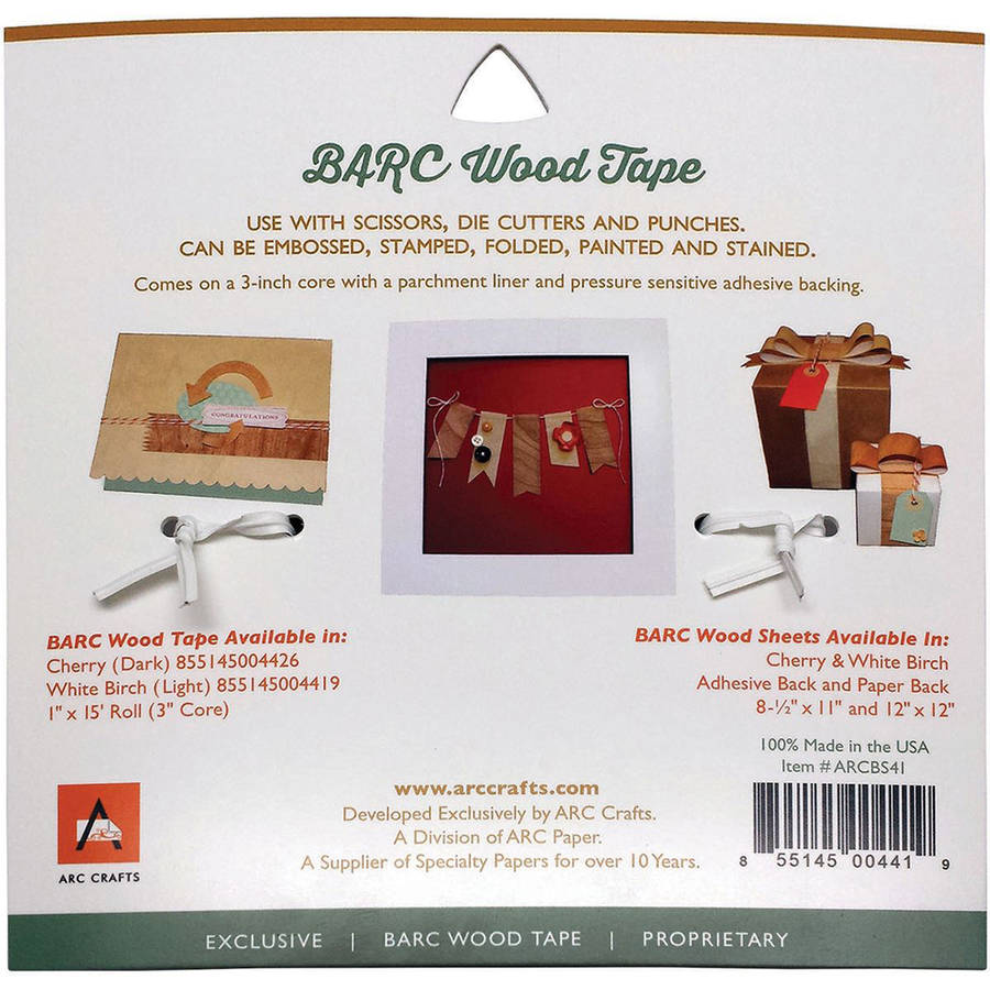 "BARC Wood Adhesive Tape, 1"" x 15'"