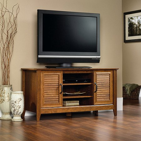 "Sauder Select Panel TV Stand for TVs up to 47"", Milled Cherry Finish"