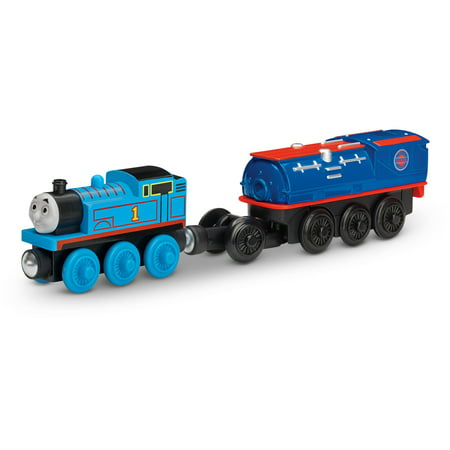 Fisher-Price Thomas the Train Wooden Railway Battery-Operated Booster Steam Car with Thomas (Thomas The Train Wrapping Paper)