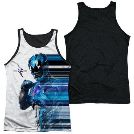 Power Rangers Blue Streak Mens Tank Top Shirt with Black Back
