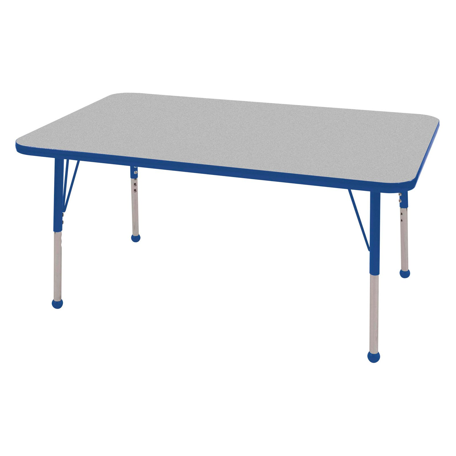 ECR4KIDS Gray Rectangle Adjustable Activity Table - 30L x 48W in.