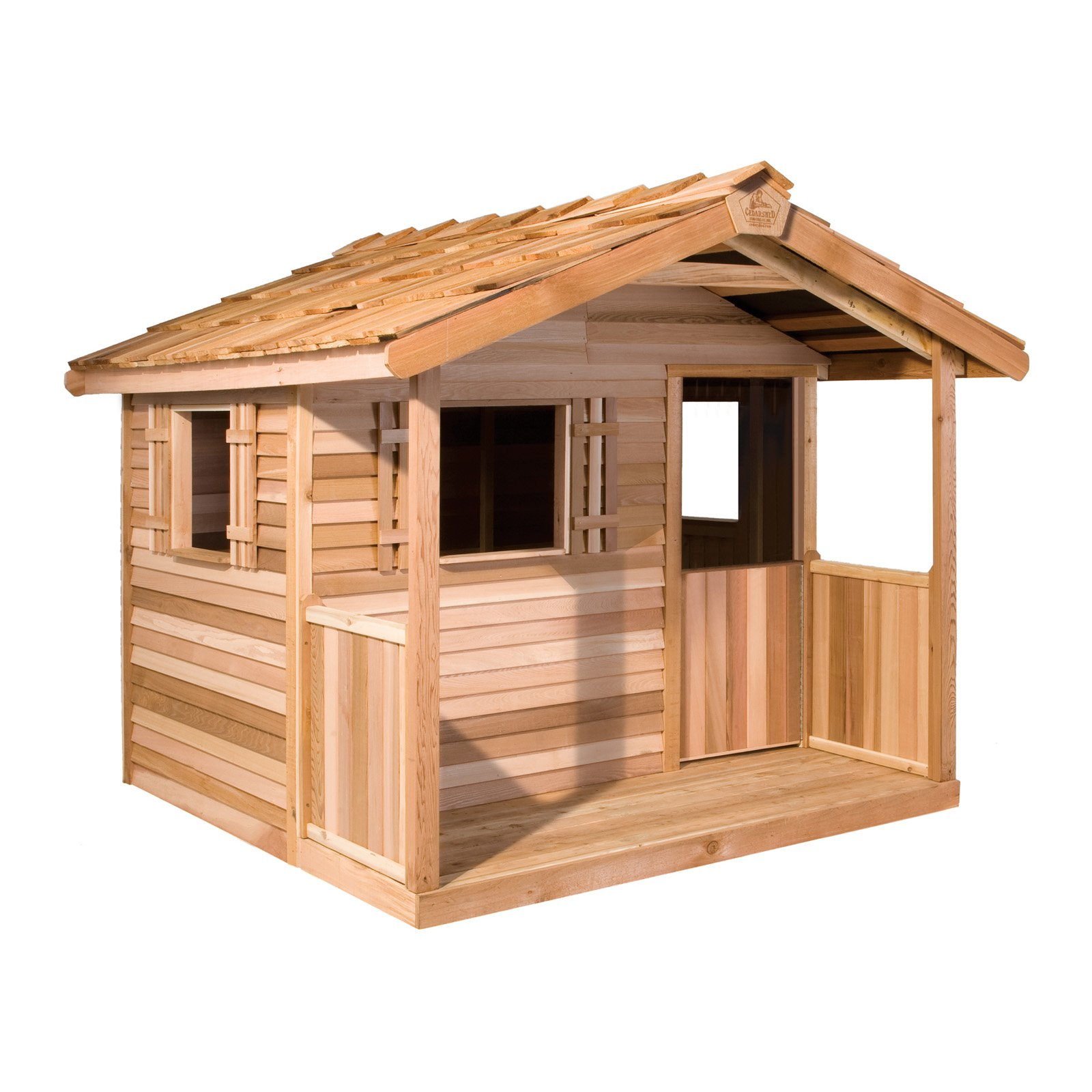 Cedar Shed Log Cabin Cedar Playhouse Walmartcom