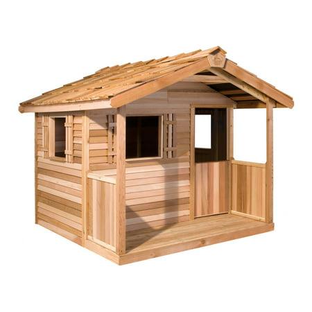 Cedar Shed Log Cabin Cedar Playhouse Walmartcom