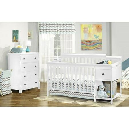 Sorelle Florence 4 In 1 Crib Amp Changer Combo White