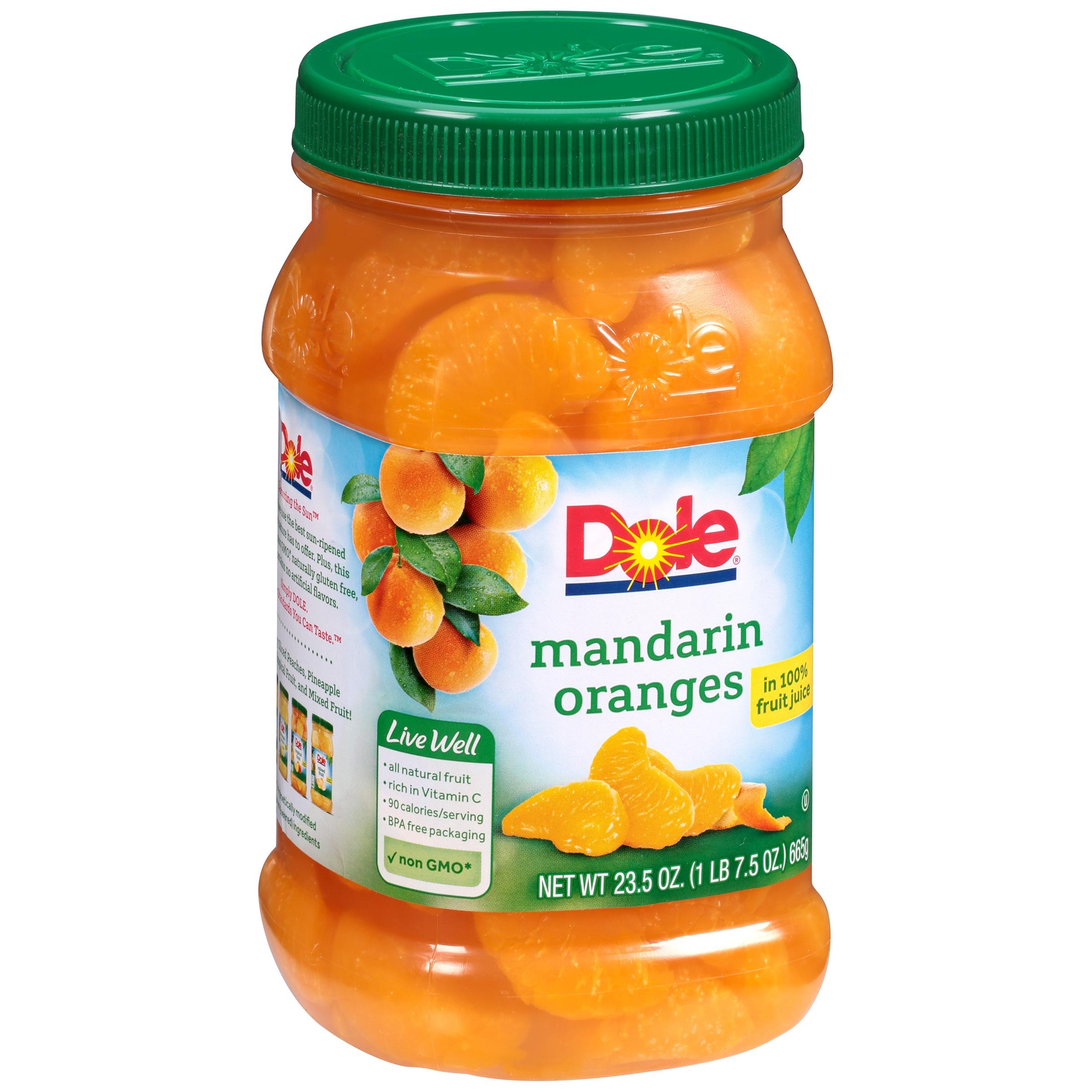 Dole® Mandarin Oranges in 100% Fruit Juice 23.5 oz. Jar