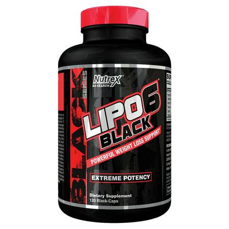 Nutrex Research Lipo-6 Black Metabolism Booster & Fat Burner, 120