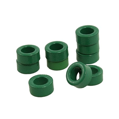 10 Pcs Inductor Coils Green Toroid Ferrite Cores 10mm x 6mm x 5mm