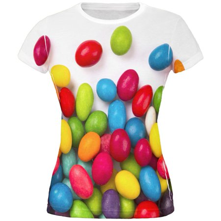 Halloween Jelly Beans All Over Juniors T - Mr Bean Halloween Special