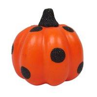 Halloween Gloss Orange and Black Dot Mini Pumpkin