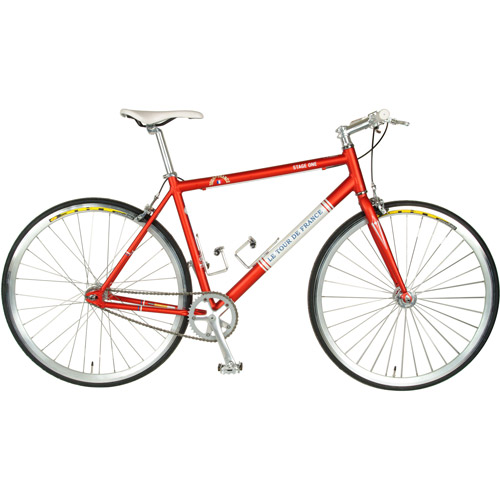 56cm Tour de France Stage One Vintage Red Fixed Gear Bicycle