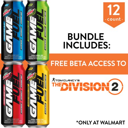 MTN DEW AMP GAME FUEL, 4 Flavor Variety Pack, 16 oz Cans, 12 (Mountain Dew Code Red Nutrition Facts 20 Oz)