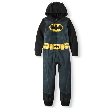 Batman Hooded Sleeper (Little Boy & Big Boy)](Mens Batman Onsie)