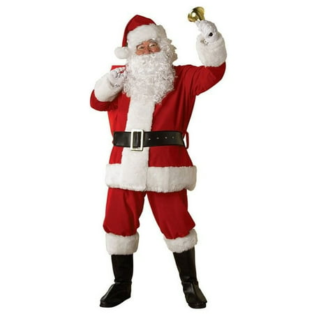 XXXL Velvet Santa Suit for Men](Velvet Suits)