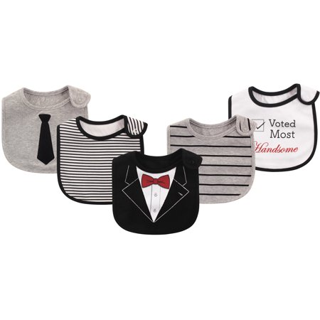 47a33ddd8 Baby Boy and Girl Cotton Waterproof Bib - Tuxedo - Walmart.com
