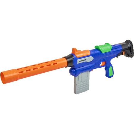 Adventure force eradicator dart blaster with barrel, darts and clips