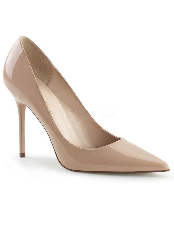 "CLAS20/ND Pleaser Single Soles 4"" Heel Shoes Nude Size: 15"