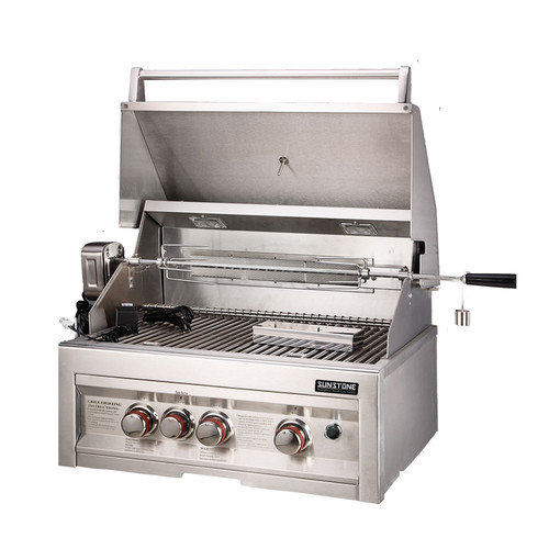 Sunstone Grills 28'' Gas Grill with 3 Burners Infrared