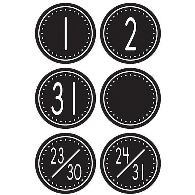 Black/White Crazy Circles Calendar Days - image 1 of 1