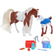 DreamWorks Spirit Riding Free Feed & Nuzzle Horse Set (11-pieces), Ages 3 +