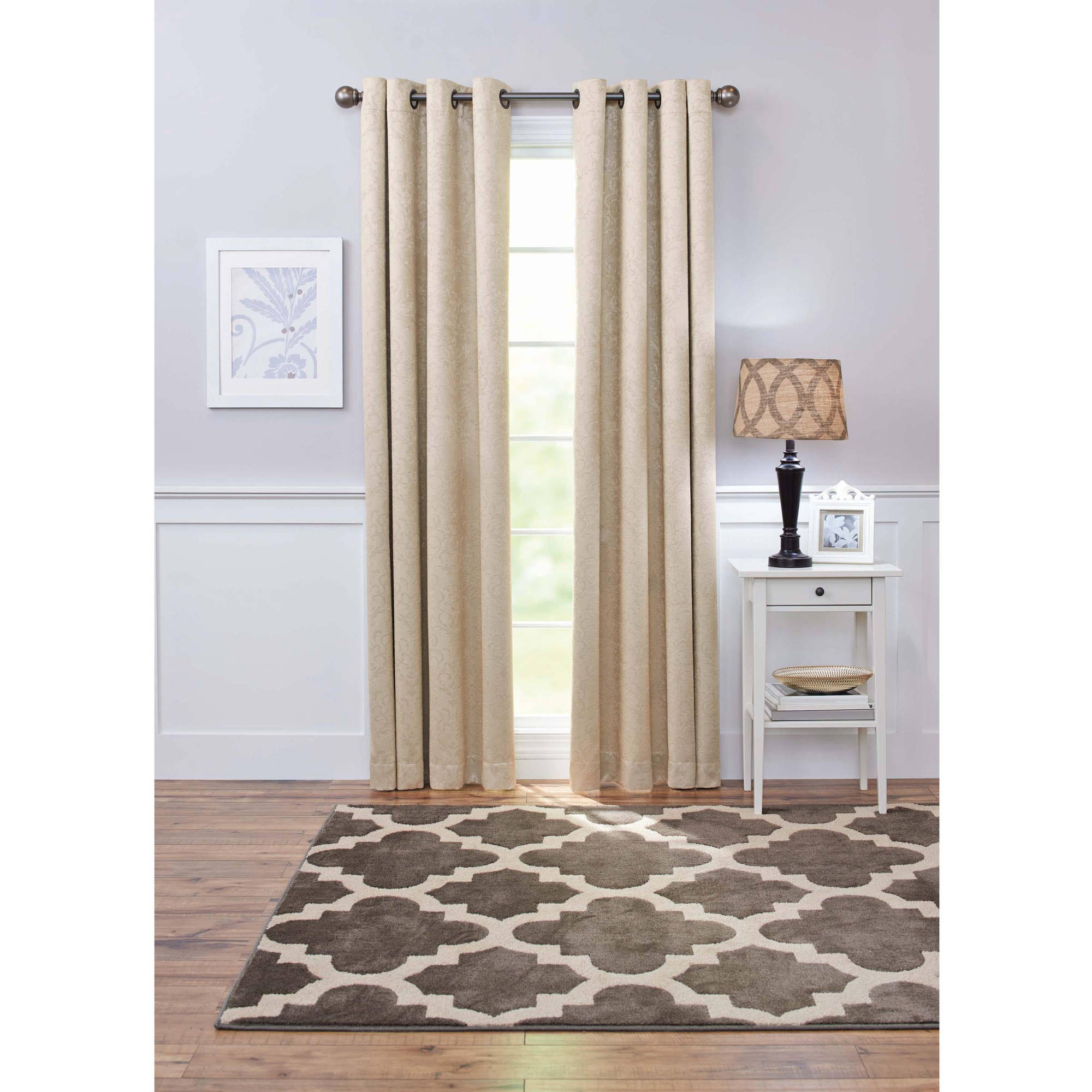 Better Homes And Gardens Embossed Damask Blackout Grommet Window Panel