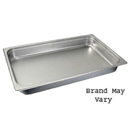 "Steam-Table Pan, Stainless, Full Size (12-3/4"" x 20-3/4"") 2-1/2"""