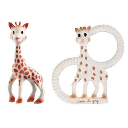 Vulli Sophie The Giraffe Teether Toy Set - (Includes The Original Sophie + New Sophie The Giraffe Vanilla Teething Ring)