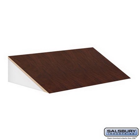Salsbury Industries 33354MAH Sloping Hood - for 21 Inch Deep Designer Wood Locker - 3 Wide - - Deep Mahogany Wood