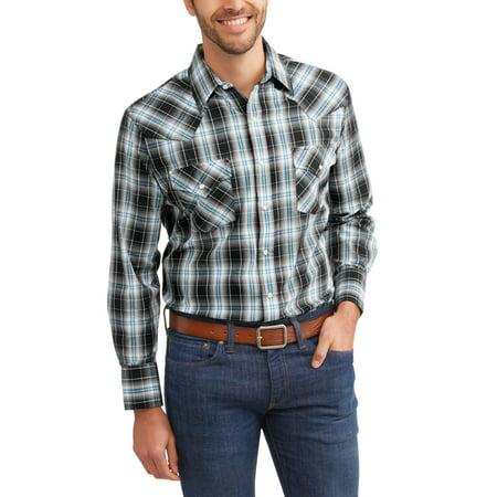 Big Tall Sport Coats - Big and Tall Mens Long Sleeve Plaid Western Shirt