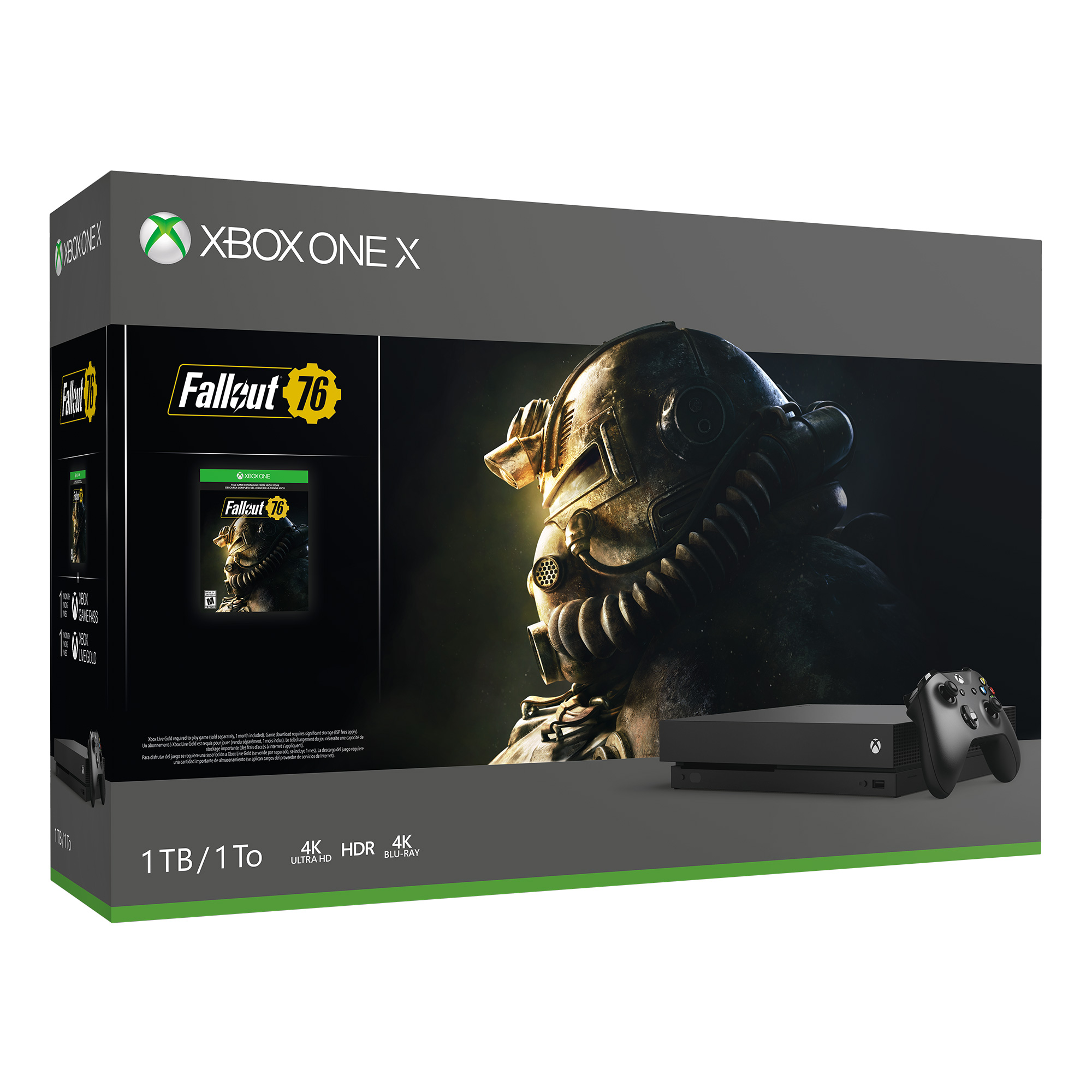 Microsoft Xbox One X 1TB Fallout 76 Bundle, Black, CYV-00146