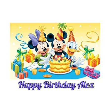 Mickey Mouse Edible Image Photo Cake Topper Sheet Personalized