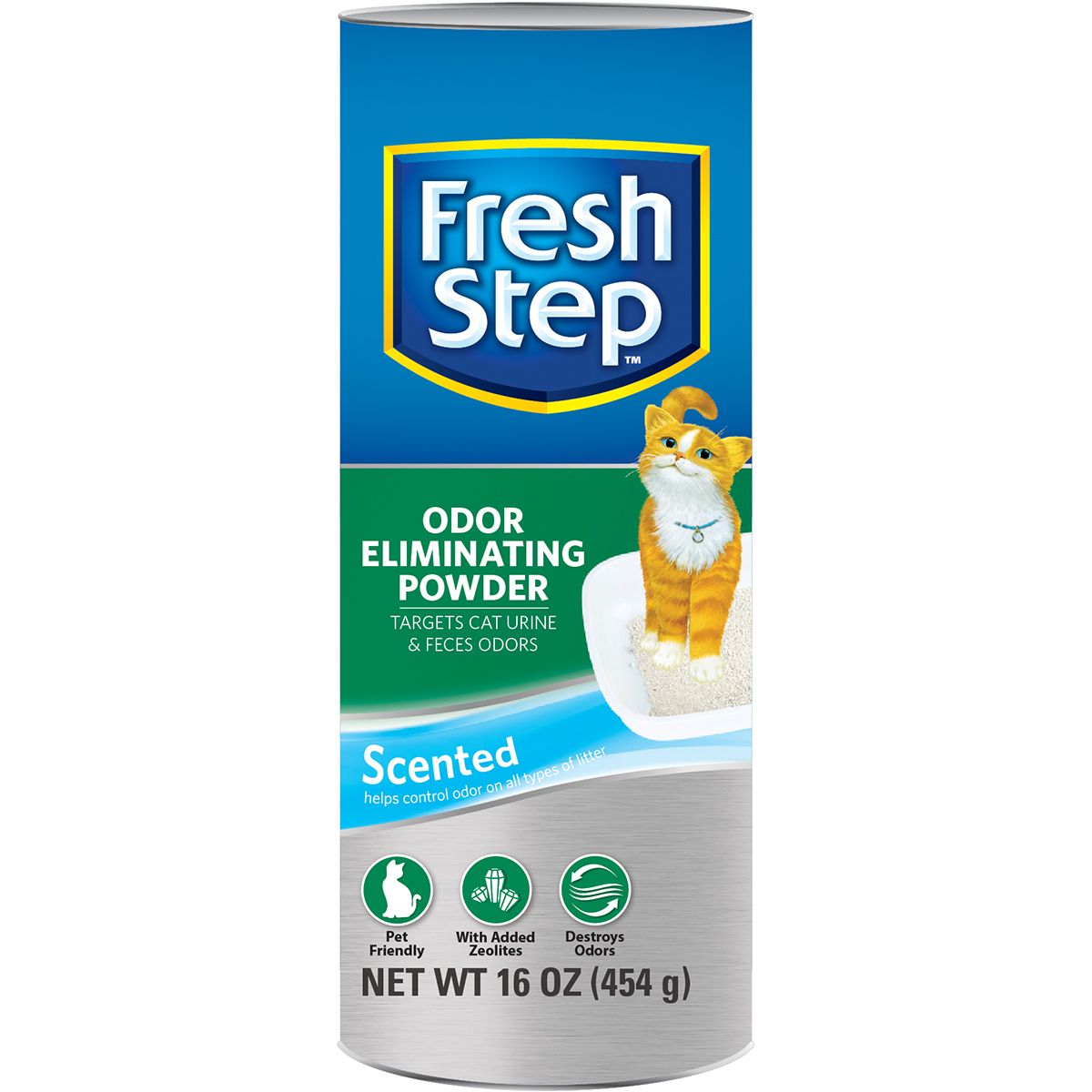 Fresh Step Odor Eliminating Powder 16oz-Made With Zeolites