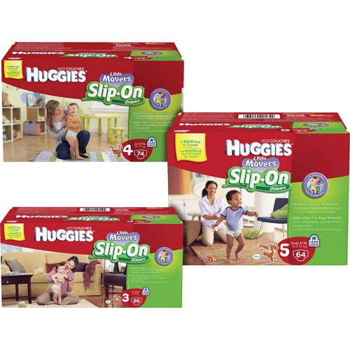 Huggies Little Movers Slip-On Diapers Size 3, 86 ct