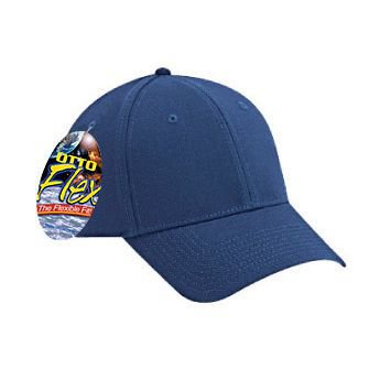 OTTO FLEX Stretchable Brushed Cotton Twill Low Profile Baseball Cap - Navy ()