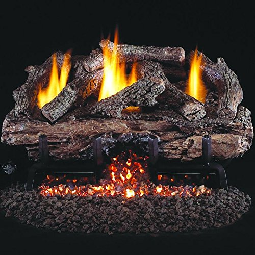Peterson Real Fyre 30-inch Charred Aged Split Oak Log Set With Vent-free
