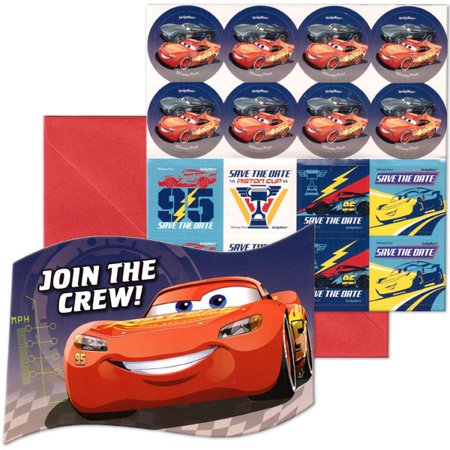 Disney Pixar Cars Lightning  Birthday Party Invitation 16 Count Save The Date Stickers](Disney Magic Band Stickers)